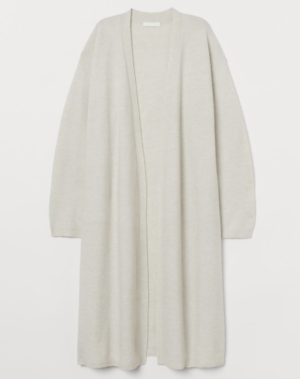 gilet long blanc H&M