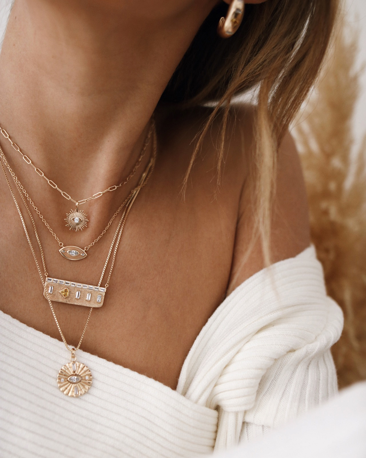 www.chonandchon.com jewelry addict, necklaces layering, gold jewelry