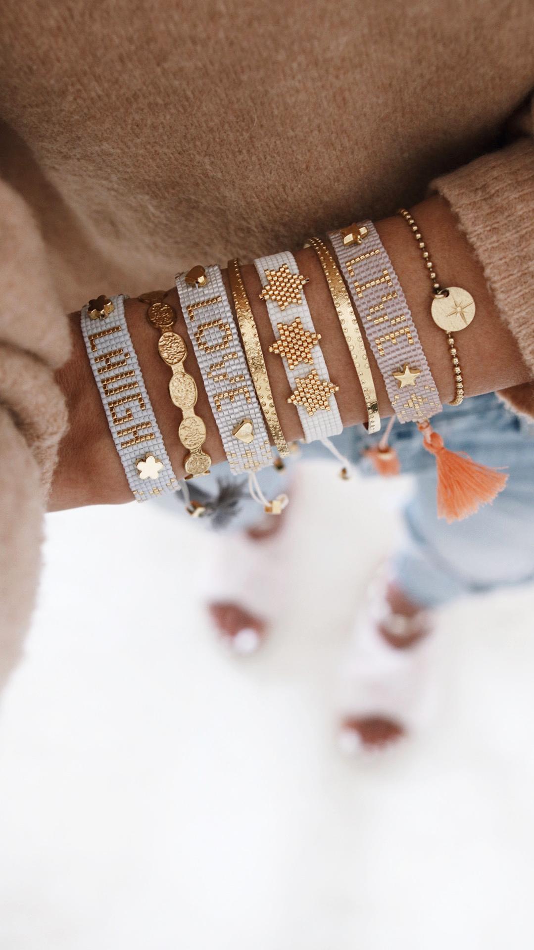 jewelry addict, bracelet stack, inso bijoux