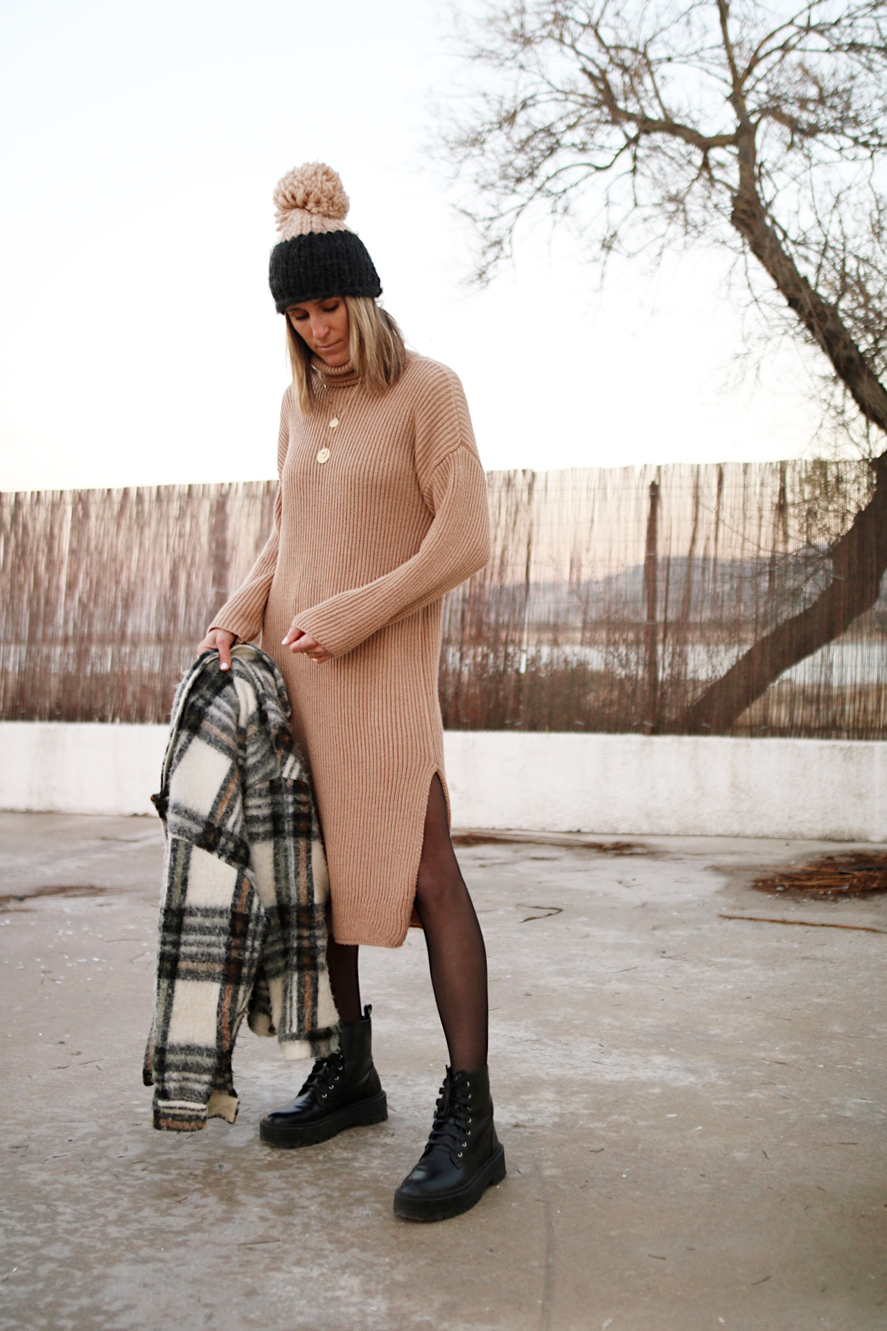 www.chonandchon.com robe longue en maille camel lili with love shop