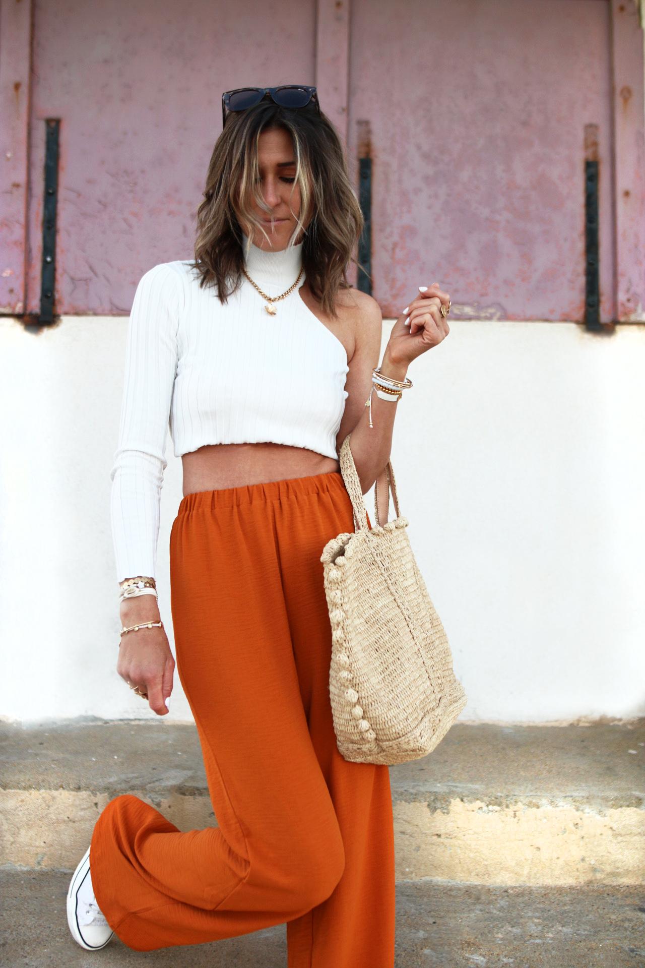 www.chonandchon.com crop top, false pants nasty gal