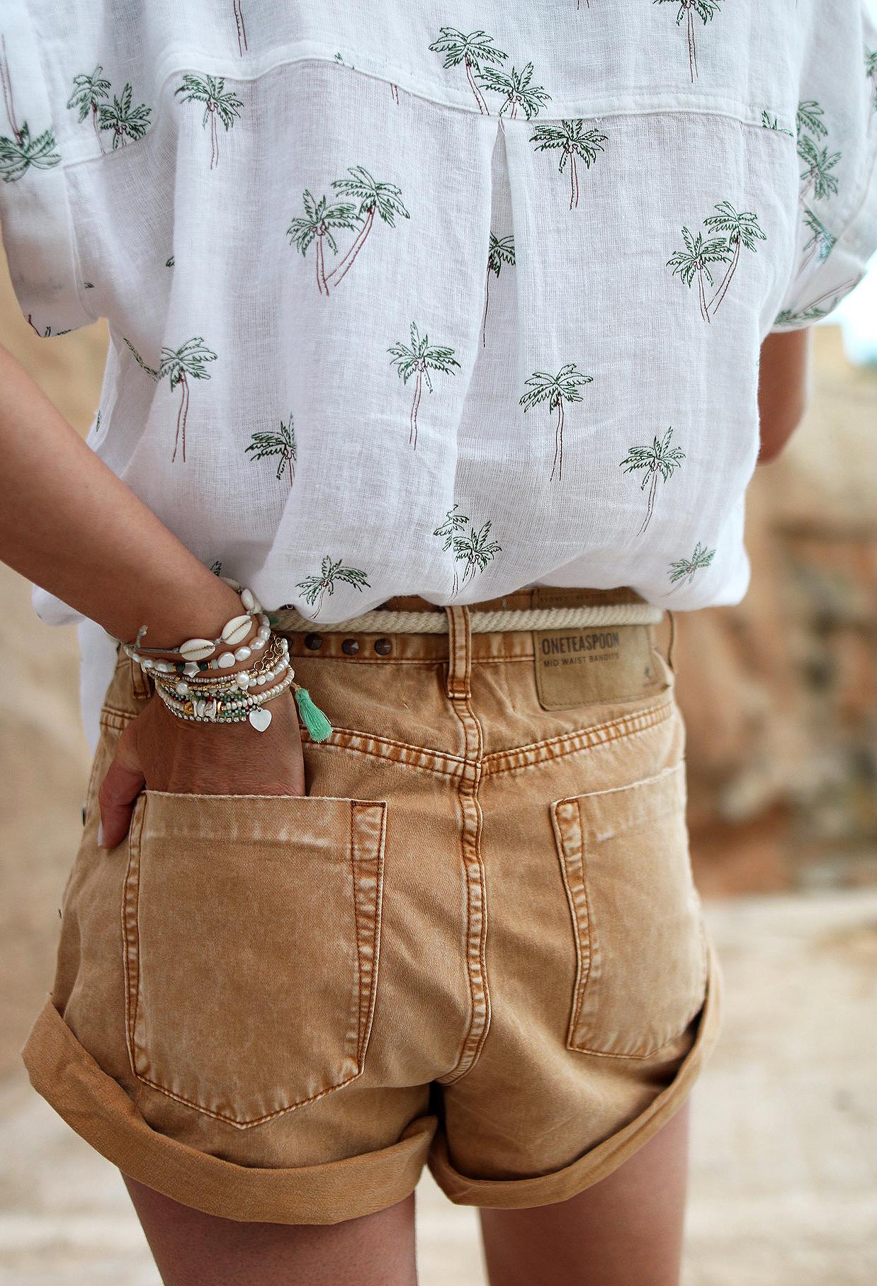 www.chonandchon.com short one teaspoon rails palm shirt