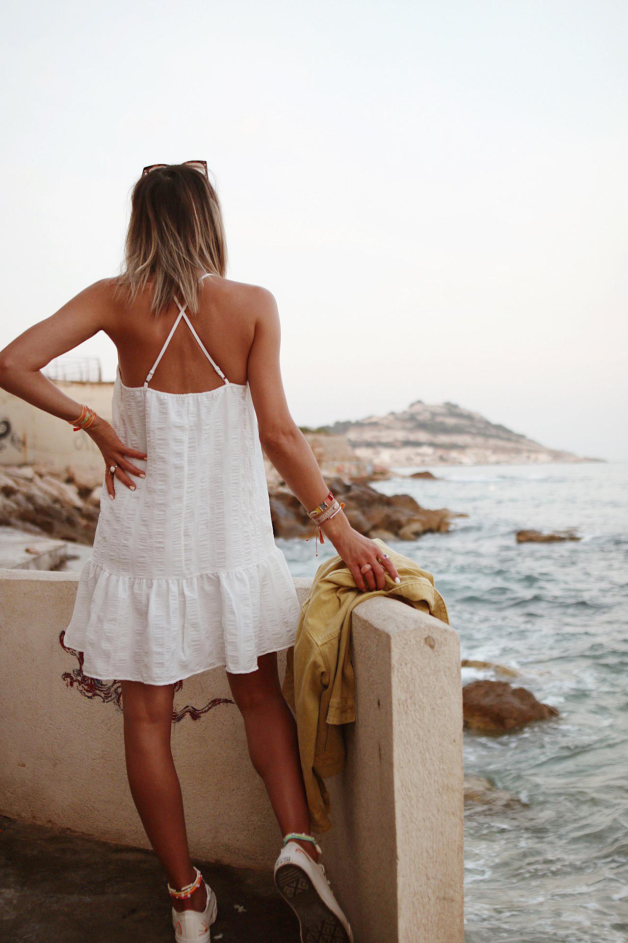 WWW.CHONANDCHON.COM petite robe blanche converse arc en ciel