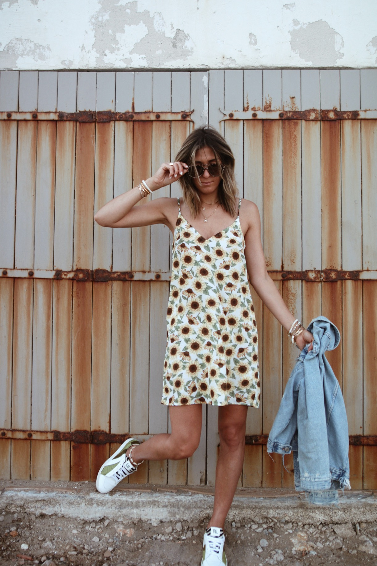 WWW.CHONANDCHON.COM sunflower dress monki