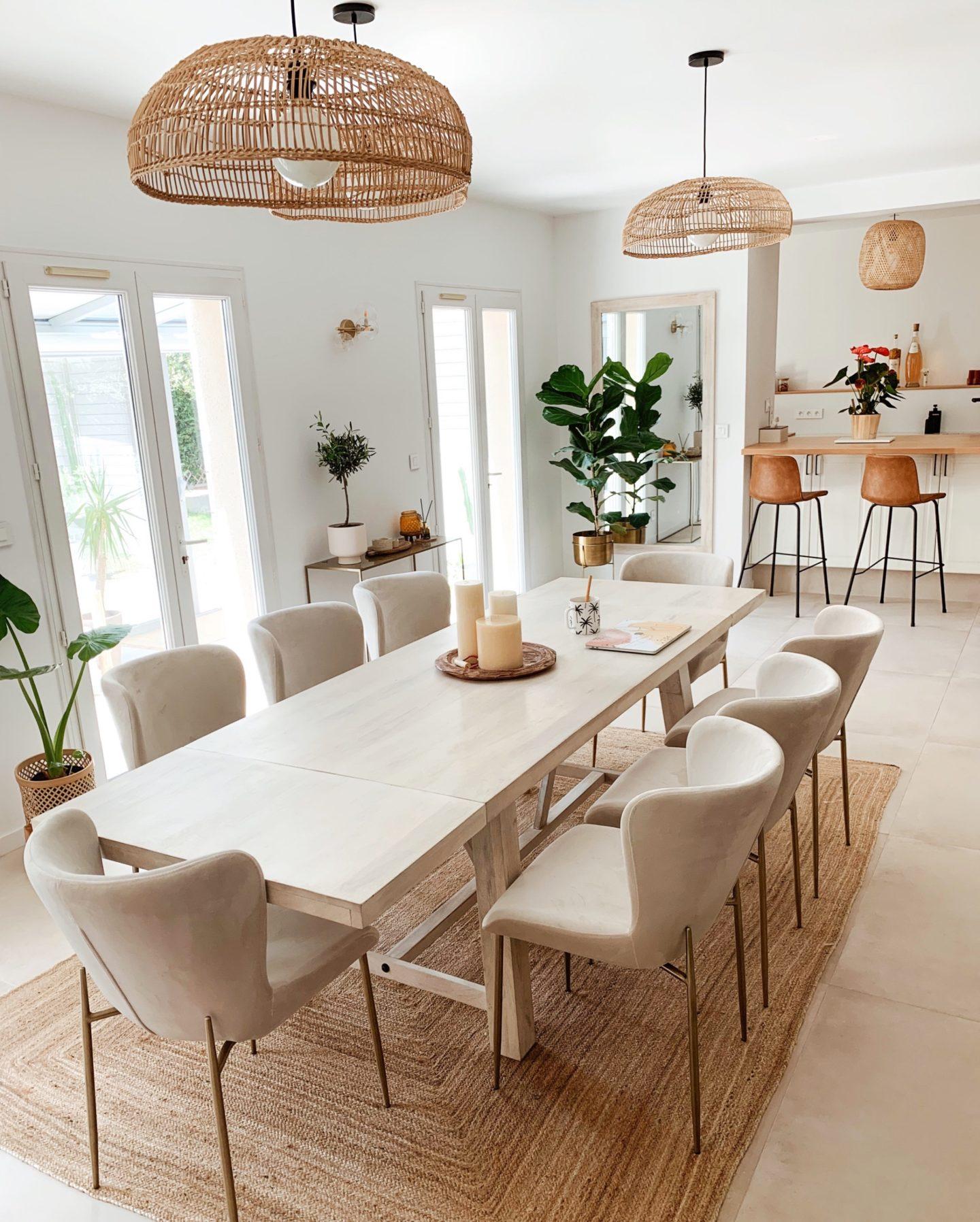 www.chonandchon.com interior decor, westwing chaises, luminaires rotin la redoute intérieurs