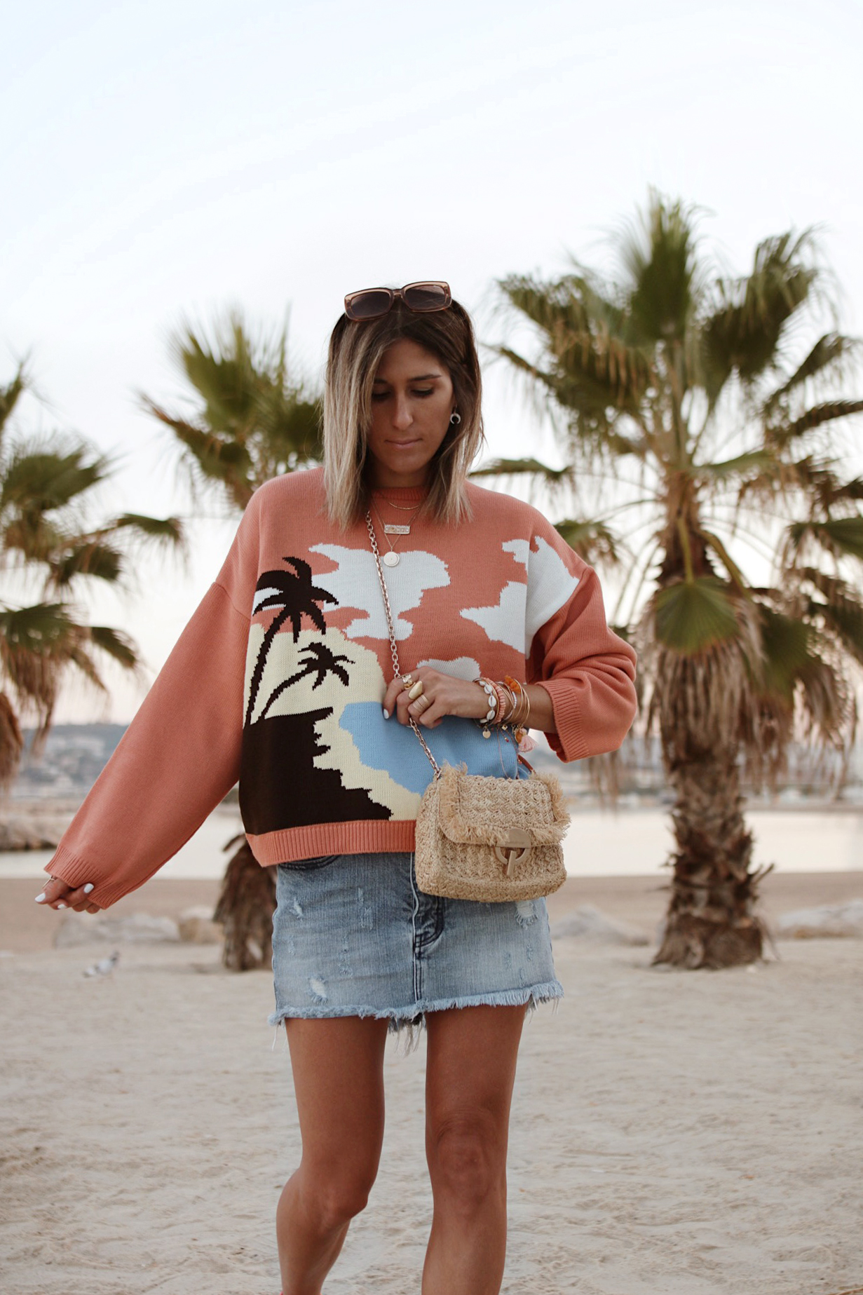 www.chonandchon.com plamtree sweater, pull palmier