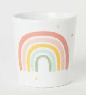 Tasse en porcelaine arc en ciel H&M