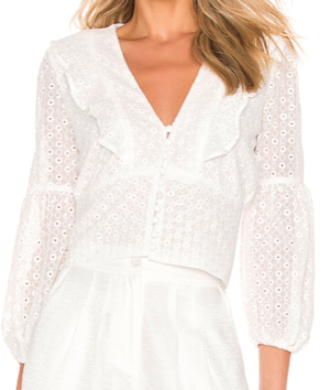 Embroidery Blouse  Bardot