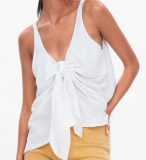 TOP BLANC NOEUD ZARA