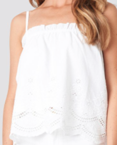 Thin Strap Crochet Singlet White NA-KD Boho