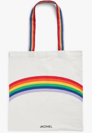 Tote bag rainbow arc en ciel monki