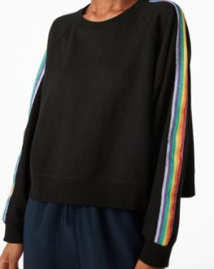 Rainbow stripe sweatshirt MONKI