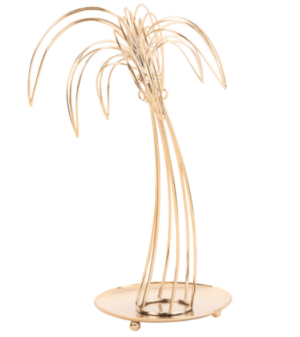 Porte-bijoux palmier en métal doré maisons du monde