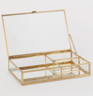 Boîte à bijoux en verre h&m