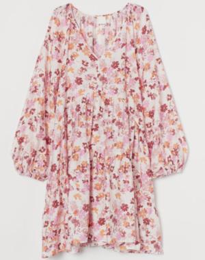 Robe trapeze fleurie h&m
