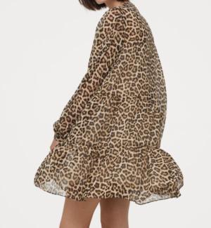 Robe en mousseline LEOPARD H&M